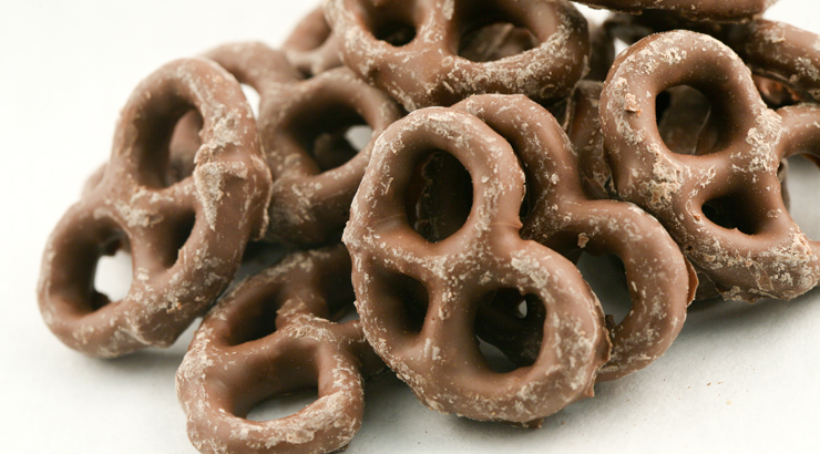 Moyer Specialty Foods Retail Store has a full line of chocolate and yogurt pretzels for your family